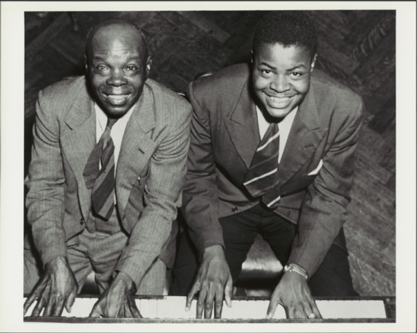 Photograph of Oscar Peterson and his father